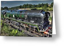 Steam Locomotive 34027 The Taw Valley Greeting Card