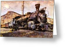 Steam Locomotive Greeting Card