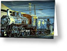 Steam Locomotive Train Engine No.1395 In Infrared Greeting Card