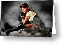 Steam Mistress Greeting Card