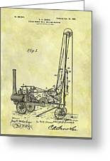 Steam Powered Oil Well Patent Greeting Card