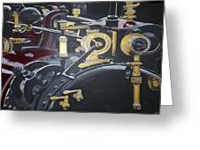 Steam Tractor Greeting Card by Richard Le Page