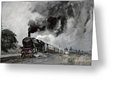 Steam Train At Garsdale - Cumbria Greeting Card