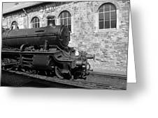 Steam Train In Station Greeting Card