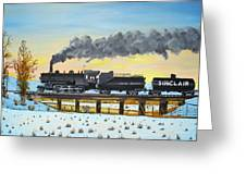 Steam Train One From Mike Massee Photo Greeting Card