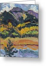 Steamboat Lake State Park Sand Mountain From Bridge Island Greeting Card by Zanobia Shalks