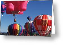 Steamboat Springs Balloons Greeting Card