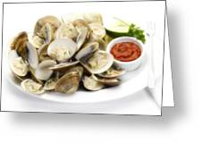 Steamed Clams Greeting Card