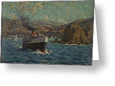 Steamer Leaving Avalon. Catalina Island Greeting Card