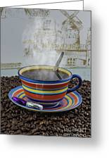 Steaming Coffee  Greeting Card