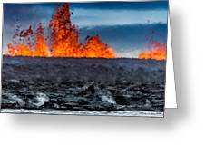 Steaming Lava And Plumes Greeting Card