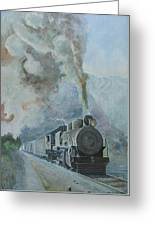 Steaming Through The Andes Greeting Card