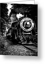 Steaming Through The Pass Greeting Card