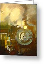 Steaming Up Mining Country Greeting Card
