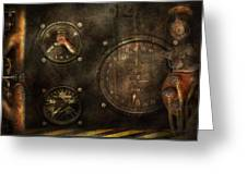 Steampunk - Check Your Pressure Greeting Card