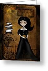 Steampunk Bibliophile Greeting Card by Charlene Zatloukal