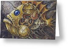 Steampunk Fish A Greeting Card