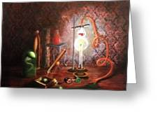Steampunk Laboratory Greeting Card