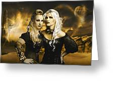 Steampunk Maidens Greeting Card