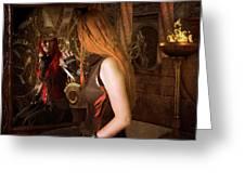 Steampunk Mirror Greeting Card