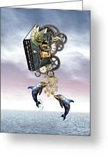 Steampunk Ocean Tale Greeting Card