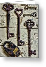 Steampunk - Old Skeleton Keys Greeting Card