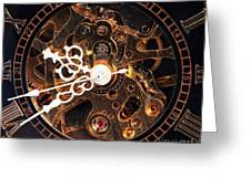 Steampunk Time Greeting Card by John Rizzuto