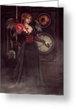 Steampunk Warlock Greeting Card