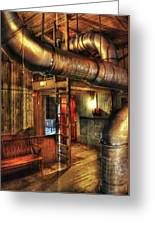 Steampunk - Where The Pipes Go Greeting Card