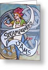 Steampunked Jams Greeting Card