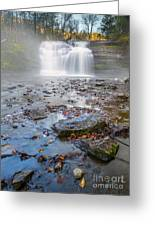 Steamy Morning At Pixley Falls Greeting Card
