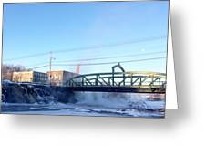 Steamy River  Greeting Card