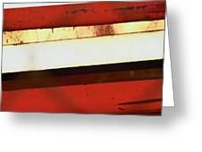 Steel City Rust Abstract Greeting Card