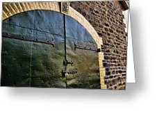 Steel Doors Greeting Card