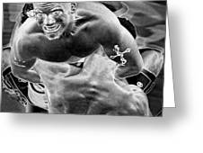 Steel Men Fighting 2 Greeting Card