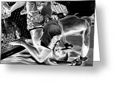 Steel Men Fighting 7 Greeting Card