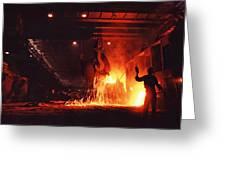 Steel Mill--china Greeting Card