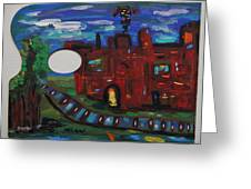 Steel Mill Nocturne Greeting Card