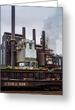 Steel Mill Greeting Card