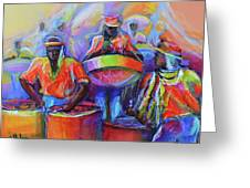Steel Pan Carnival Greeting Card