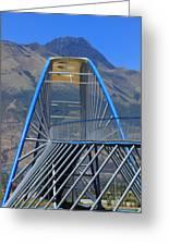 Steel Pedestrian Bridge In Ibarra Greeting Card