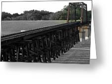 Steel Rails Greeting Card