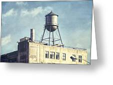 Steel Water Tower, Brooklyn New York Greeting Card by Gary Heller