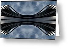 Steel Waves Greeting Card