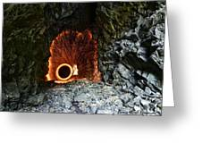 Steel Wool Photography In A Cave Greeting Card