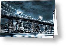 Steely Skyline Greeting Card