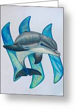 Steemit Dolphin Greeting Card
