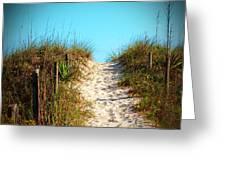 Steep Beach Path Greeting Card
