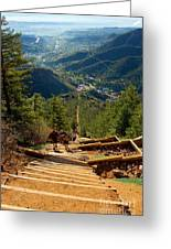 Steep Manitou Incline And Barr Trail Greeting Card