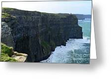 Steep Sheer Sea Cliff's Known As The Cliff's Of Moher Greeting Card